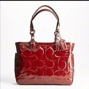 Coach Gallery Patent Leather East / West Tote